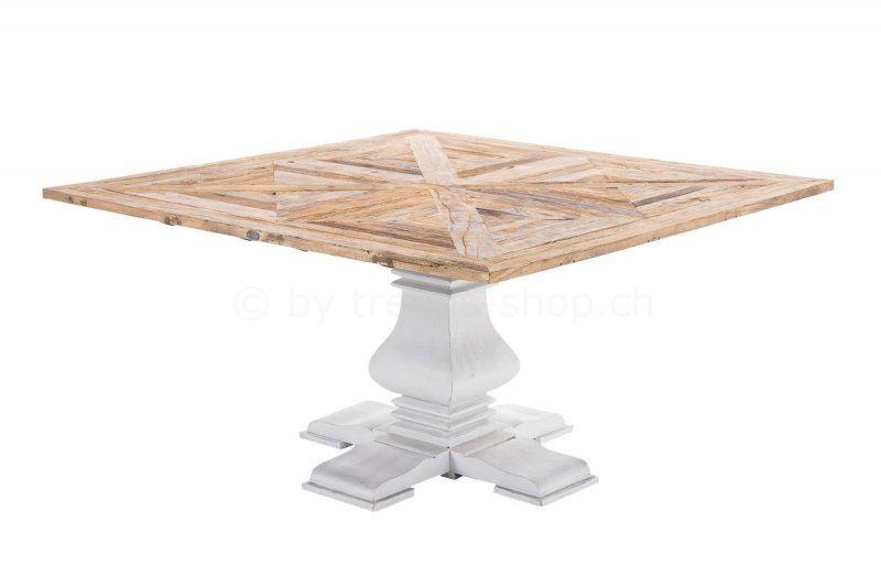 Massiver Esstisch aus Ulmenholz